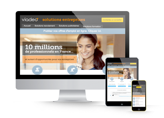 Viadeo Business responsive web design
